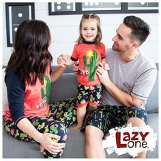 Don't get prickly in the wrong sleepwear! With our adorable cactus PJs for the whole family, stick together in style and comfort sure to delight. There are days where getting out of bed feels downright impossible. We get it and we would never judge you for being stuck in bed with these cute matching cactus pajamas. Kids Pajamas, Pjs, Matching Pajamas, Funny Design, Easter Ideas, Bedding Collections, Family Christmas, Bedtime