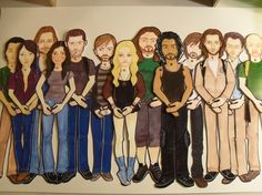 Coolest Christmas gift! the cast of LOST in paper doll form!