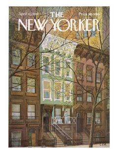 The New Yorker Cover - April 12, 1969  by Charles E. Martin  RDNY.com - No Fee Apartments in NYC.
