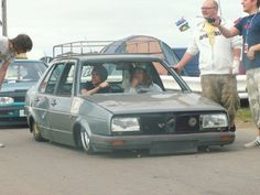 You gotta love the VW stance scene. I want to hang out with these two dudes for a day.