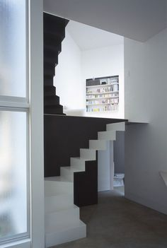 beautiful sculptural staircase. w-window house by Alphaville