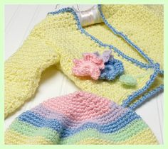 Ravelry: Crochet Hat and Cardigan Springtime Set pattern by Jean Fleming