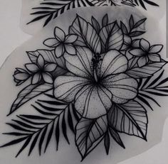 Hawaiian Flower Tattoos, Tribal Flower Tattoos, Small Flower Tattoos, Small Tattoos, Mini Tattoos, Body Art Tattoos, Sleeve Tattoos, Piercing Tattoo, Piercings