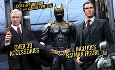 Batman Armory with Bruce Wayn and Alfred Sixth Scale figure set from Hot Toys now available at SideshowCollectibles.com for fans of The Dark Knight and DC Comics.