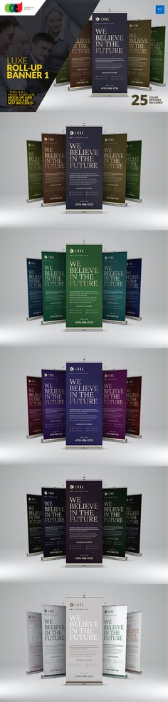 Luxe - Roll-Up Banner 1. This is the Roll-Up Banner Template with the biggest amount of color options on the internet, with 25!!!  $8