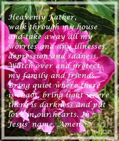 Most Powerful Prayer with Peony Bush by Barbara Griffin. Pink peonies with a prayer called the most powerful prayer. Memorize it and say this prayer as a mantra many times a day. This Christian prayer has been known to work. Peony Bush, Christian Prayers, Morning Prayers, Power Of Prayer, Most Powerful, Sale Poster, Pink Peonies, Heavenly Father, Mantra