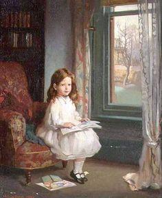 William Orpen (1878 – 1931, Irish)~reminds me of my Olivia~
