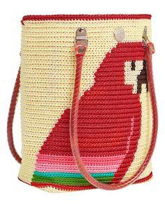 Parrot #skippinggirl #tote #handbag #fashion #beachbag #beach #parrot