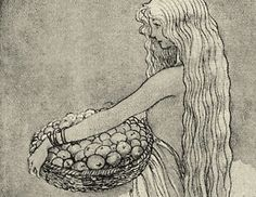 John bauer - looks like Idun with the apples of life