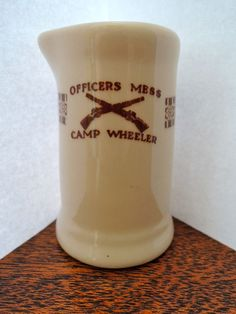 Camp Wheeler Officers Mess Individual Restaurant Creamer