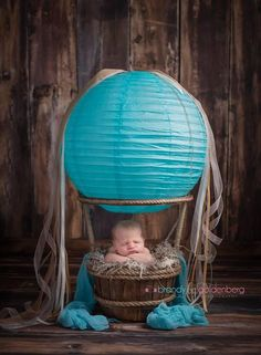 Image of The Woodsy Wonders ORIGINAL Hot Air Balloon Basket {With Soft White Balloon}