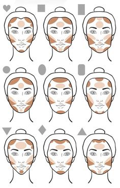 Make-up tips Contouring give your face that certain something Haus Dekora . - Make-up tips Contouring give your face that certain something house decoration More Face Makeup con - Slimmer Face, Plus Size Makeup, Maquillage On Fleek, Makeup Charts, Pinterest Makeup, Makeup For Blondes, Makeup Guide, Makeup Ideas, Makeup Tutorials