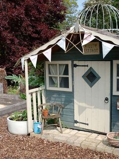 Trendy Children Garden Playhouse Sheds 28 Ideas Kids Garden Playhouse, Play Area Garden, Boys Playhouse, Childrens Playhouse, Build A Playhouse, Playhouse Outdoor, Wooden Playhouse, Garden Spaces, Playhouse Ideas