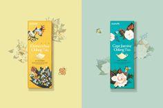 畫報和金箔包裝由Victor設計茶葉品牌Daebeté新的花卉花茶系列開發