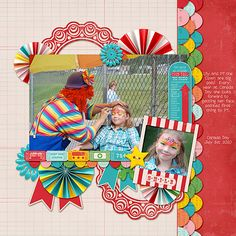 Layout by Kimberly M. Supplies: County Fair by Design by Dani; Fonts: Teenybopper by Darcy Baldwin.