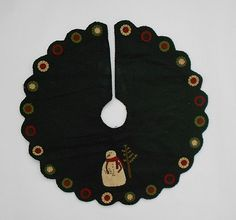 Primitive Country Penny Snowman Christmas Tree Skirt | eBay