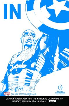 """All-New Captain America #3 College Football Playoff on ESPN """"IN"""" Variant Cover"""