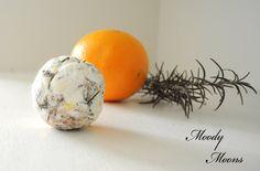 TWO Orange Lavender Rosemary Soap Balls