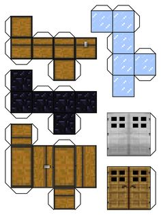 """We're having a Minecraft themed mini party tomorrow. One activity is to use construction paper to make tons of these for """"CRAFTS that are MIINE"""" . Should be much easier than my original plan of coloring/painting wood blocks, with glue or magnetic tape to attach them.  minecraft+blocks+6+by+Dylan-A-King.deviantart.com+on+@deviantART"""