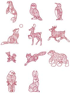 christmas redwork designs free   Bird Brain Designs Embroidery Redwork Patterns - kootation.com