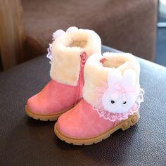 929f8836ccb KKABBYII Princess Girls Boots Children Shoes New Winter Plush Warm Bow  Fashion Girl Snow Boots Kids Soft Bow Cute Girls Shoes.