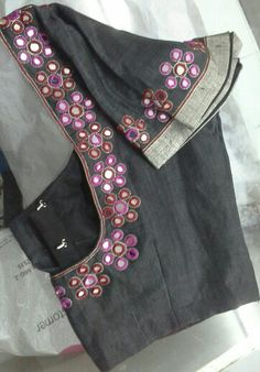 Black blouse with mirror work 91 9866583602 whatsapp no 7702919644