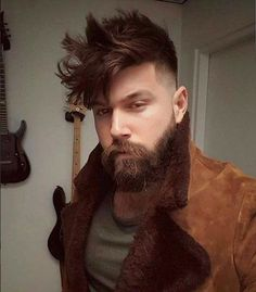 35 Of The Best Haircuts For Men With Thick Hair , If you have thick hair, you've probably learned by now that it takes a knowledgeable stylist to cut it. The best haircuts for men with thick hair . Beard Styles For Men, Hair And Beard Styles, Short Hair Styles, Latest Men Hairstyles, Cool Hairstyles, Hairstyles Haircuts, Cool Haircuts, Haircuts For Men, Hairy Men