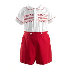 4dfebbbe7 Prince George looks like he is wearing this Rachel Riley smocked set for  his sister's christening
