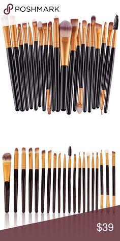 RESTOCKED ✨ 20 Piece Professional Makeup Brush Set 20 Piece Professional  Makeup Brush Set- a c58f694c6a417
