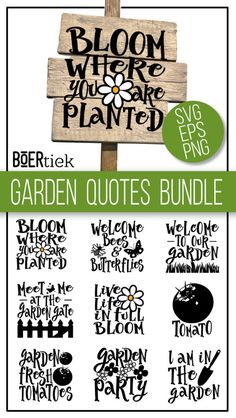 garden quotes Garden bundle, SVG c - garten Garden Crafts, Garden Projects, Garden Ideas, Wood Projects, Funny Garden Signs, Funny Garden Quotes, Olive Garden, Bloom Where You Are Planted, Diy Cutting Board