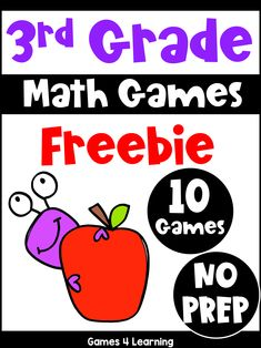 This collection of free math games for third grade includes 10 games. These are perfect for home learning or for learning at school. Printable Math Games, Free Math Games, Math Board Games, Math Boards, Fun Math, Third Grade Math Games, Math Sheets, Home Learning, Homeschool Math