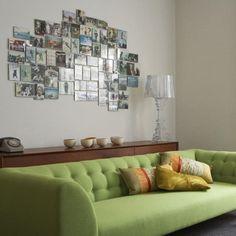 Painel com fotografias, simples e muito charmoso