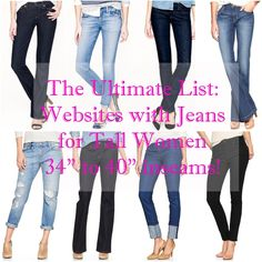 The Ultimate List of Websites that Sell Jeans for Tall Women