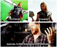 Whedon and Hemsworth