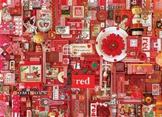 The Rainbow Collection! Meet ''Red'' - one of seven 1000 piece puzzles that spans 15'6'' when all are completed and aligned next to each other! A great Valentine's Day puzzle! 1000pc Red jigsaw puzzle | 51861 | Cobble Hill Puzzle Co