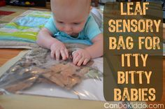 Awesome Tummy Time idea for baby. Plus other fall-themed activities for infants. Bust that baby boredom (for both baby and new parents!) while you promote healthy baby development! Baby blog from a pediatric Occupational Therapist and mommy.  CanDoKiddo.com