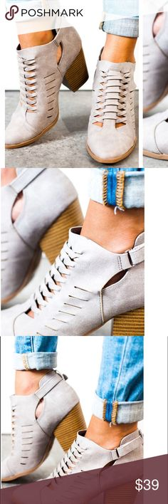 Summer to Fall Bootie Grey 3 inch heel Shoes Ankle Boots & Booties