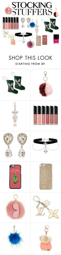 """""""stocking stuffers"""" by naa215 ❤ liked on Polyvore featuring Mark & Graham, Topshop, MayraFedane, Bare Escentuals, Dolce&Gabbana, Michael Kors, MICHAEL Michael Kors, Louis Vuitton, Cheveux Corp. and Adrienne Landau"""