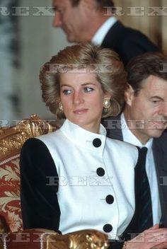 Princess Diana visits Paris during her Royal tour of France Nov 1988