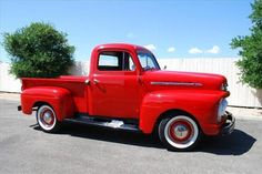 1951 Ford F1 Red Pickup Truck