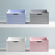 A delightful design that promotes a neat and tidy bedroom, this toy box makes a charming home for all types of toys. Deep and wide, the spacious chest is handy for storing board games, dolls, action figures and teddy bears. #toybox #kidsbedroom #kidsbedroomideas #bedroomstorage Toy Storage Boxes, Toy Boxes, Storage Spaces, Pink Toy Box, Deep And Wide, Good Enough To Eat, Neat And Tidy, Arts And Crafts Supplies, Child Safety