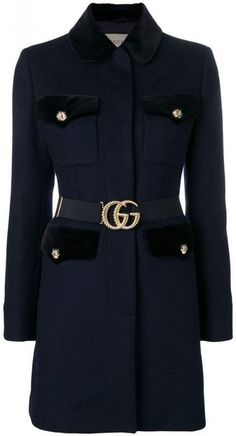 -- Gucci Velvet-trimmed single breasted coat -- only always Tweed Coat, Shoes With Jeans, Sweater Coats, Fashion Branding, Jacket Style, Single Breasted, Casual, Women Wear, Gucci