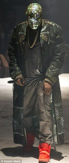 Man behind the mask: The Yeezus Tour features a 60-foot tall mountain set, circular projection screen, a dozen female dancers, a Jesus Chris...