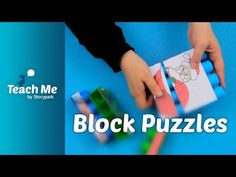 All you need: - pictures - double-sided tape - building blocks - a cutting tool Creating unique personalised puzzles are a great way to support children's co. Learning Activities, Early Childhood, Puzzles, Classroom, Teacher, Education, Children, Youtube, Class Room