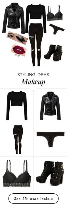 """Date with Scott"" by ravenxoxo on Polyvore featuring Topshop, Victoria's Secret, Kensie, Chicnova Fashion and Smashbox"