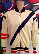 80S CASUALS ORIGINAL VINTAGE FILA LEGEND TRACKSUIT TOP MEDIUM