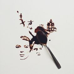 Trading ink for coffee, Giulia Bernardelli creates stunning works of art using food as her medium. The Italian artist produces intricate paintings that loo