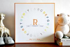 Alphabet Typography Wheel by Little Ink Print