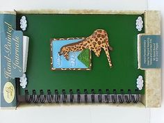 Hand Painted Journal Note Book 3D Giraffe Lovers Ideal for Records keeping cont.