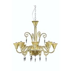 "Elegant Lighting 8808D37YW/EC Symphony Collection Dining Room Hanging Fixture D37"" x H36"" Yellow Finish (Elegant Cut Crystal Clear)"